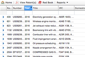 Patent search interface